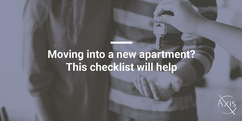 Moving into a new apartment-This checklist will help